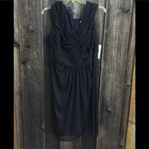 Adrianna Papell Occasions Twist Front Black Dress